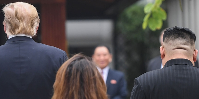 Trump und Kim  Jong Un
