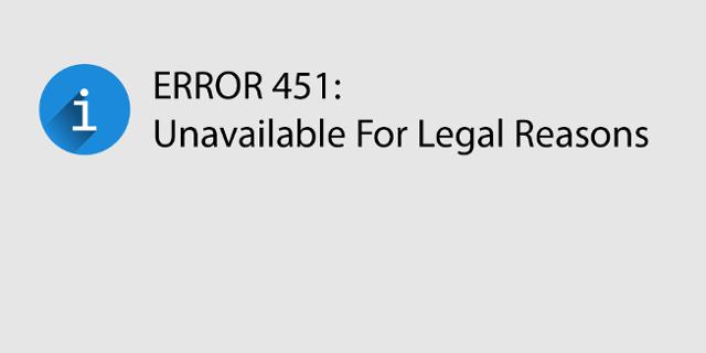 html Fehlercode Meldung 451