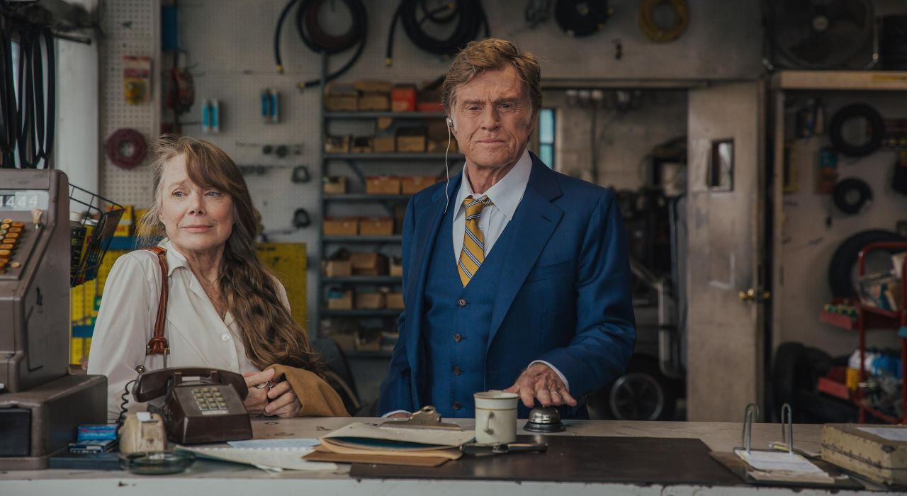 "Robert Redford und Sissy Spacek in ""the old man and the gun"""