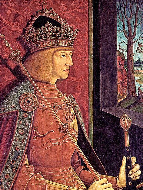 Porträt von Kaiser Maximilian I., Bernhard Strigel, um 1500, KHM Wien