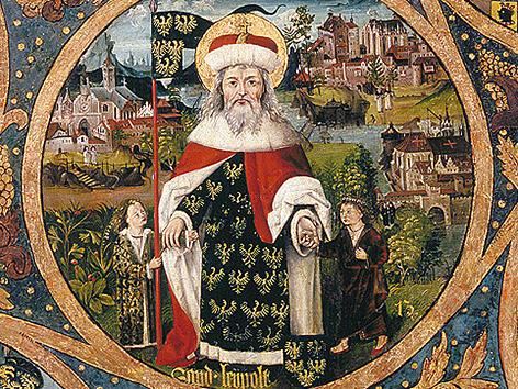 Ausschnitt aus dem Babenberger-Stammbaum: Markgraf Leopold III.
