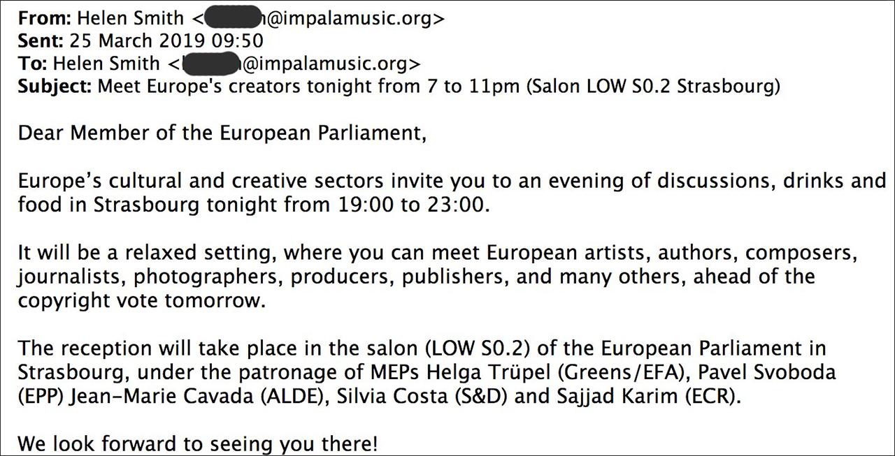 Email des Musiklobbytreffen
