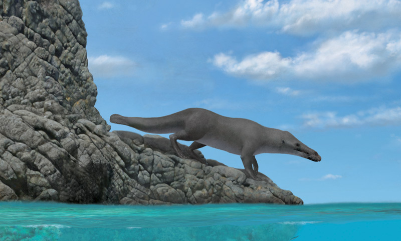 Illustration zum vierbeinigen Urwal
