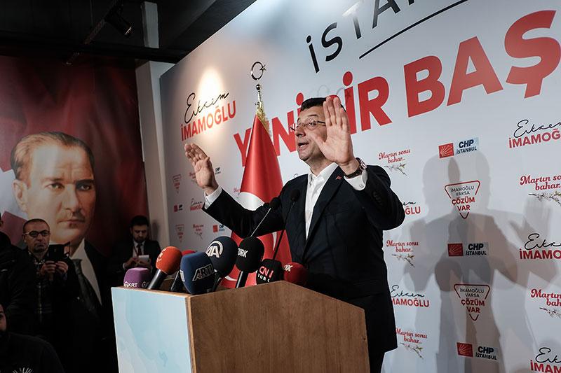 Der Bürgermeisterkandidat für Istanbul der CHP, Ekrem Imamoglu