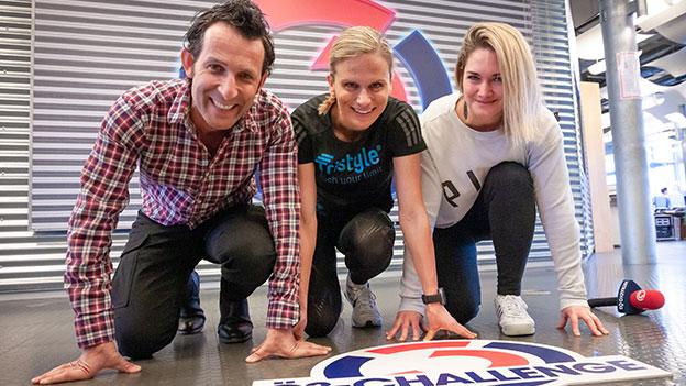 Tom Walek, Lissi Niedereder und Gabi Hiller in Startposition