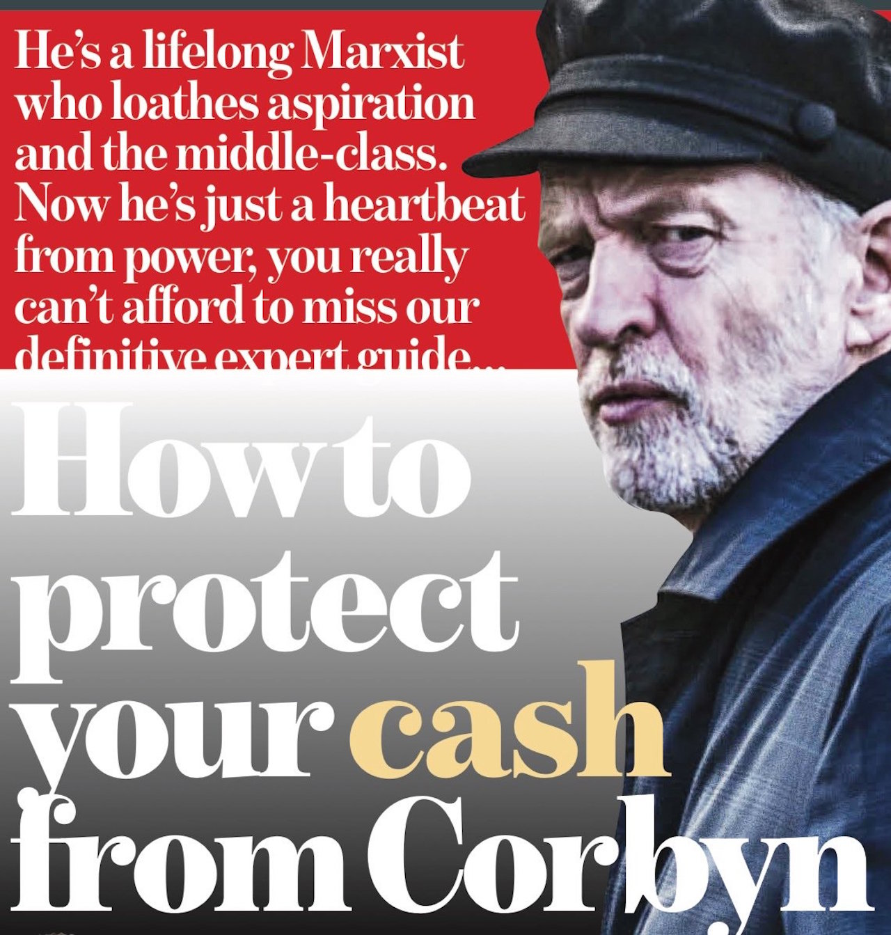 Überschrift in der Mail on Sunday: How to protect your cash from Corbyn