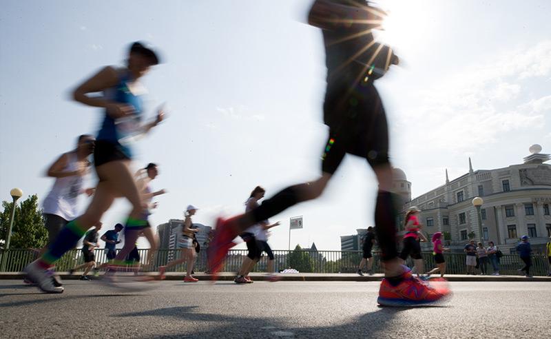 Szenen des Vienna City Marathon