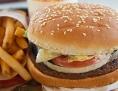 Burger und Pommes Frittes