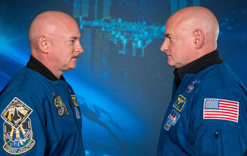 Astronauten und Zwillingsbrüder Scott und Mark Kelly