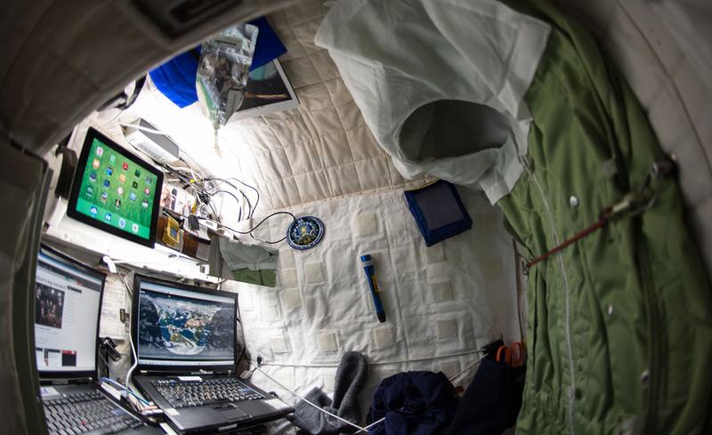 """Scott Kellys """"Zimmer"""" auf der ISS"""