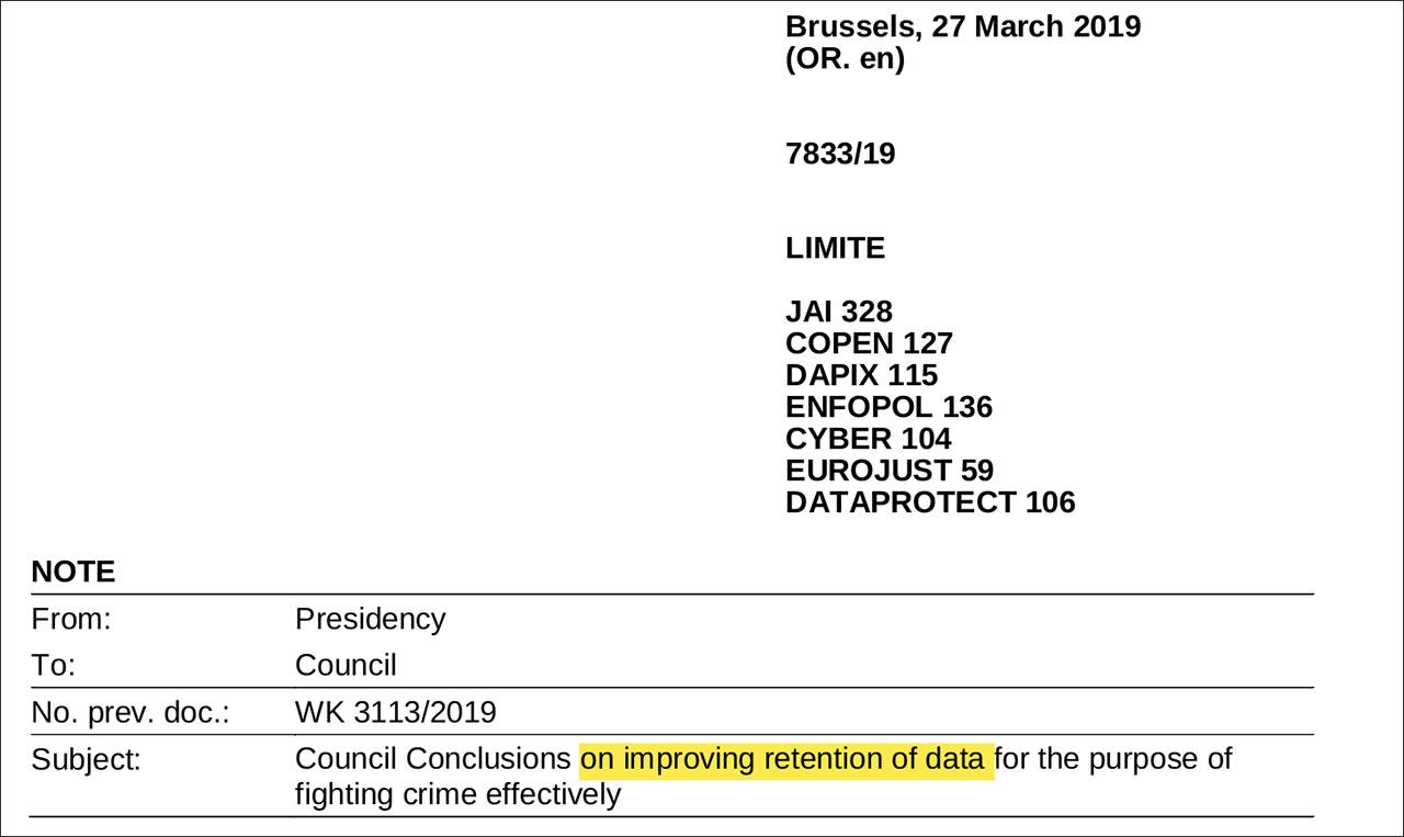 EU-Vorratsdaten 2.0 auf Initiative Österreichs