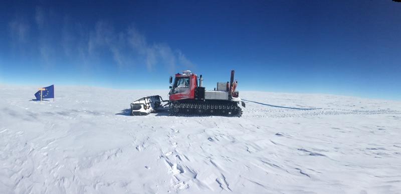 Stelle für Eisbohrung in der Antarktis