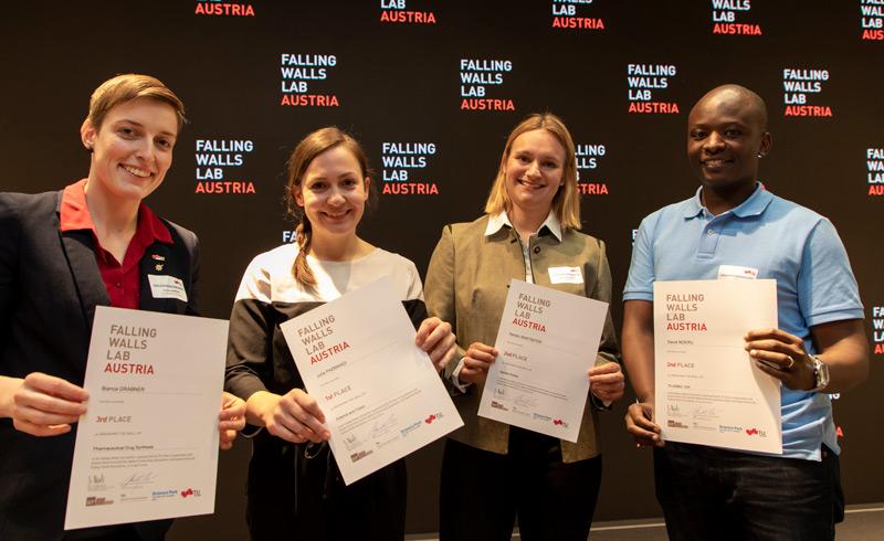 Preisträger Falling Walls Lab Austria 2019