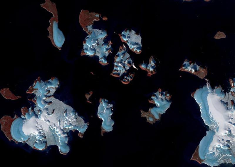 Franz-Josefs-Land im russischen Teil der Arktis