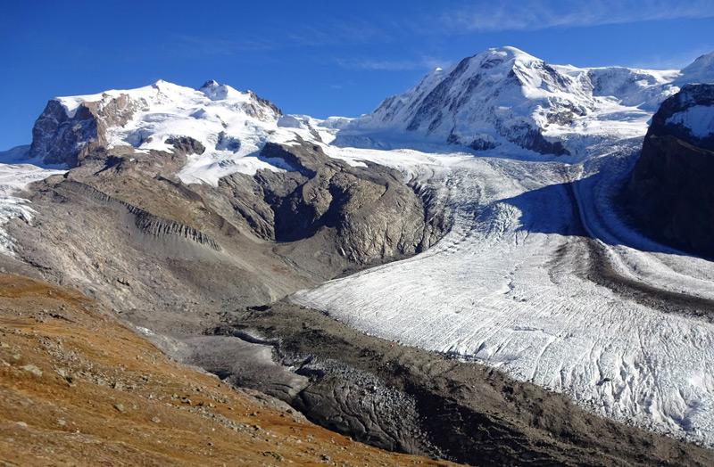 Gornergletscher im Monte-Rossa-Massiv