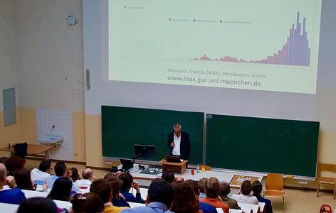 Hubertus Kohle beim Vortrag in Wien