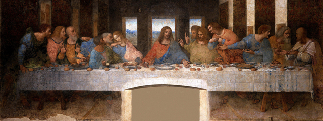 """""""Das Abendmahl"""" eines der berühmtesten Wandgemälde der Welt, von Leonardo da Vinci"""