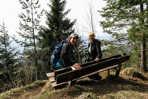 Walek Wandert mit Diana Langes-Swarovski