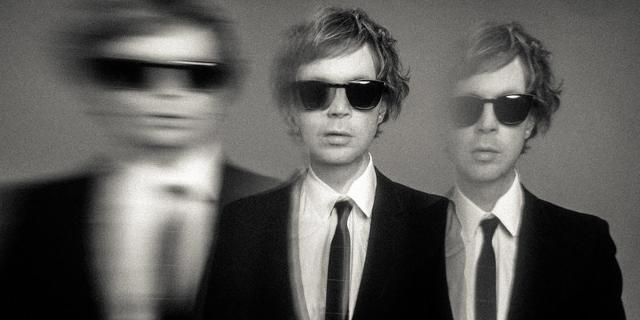 Beck schwarz weiß mit Sonnenbrille