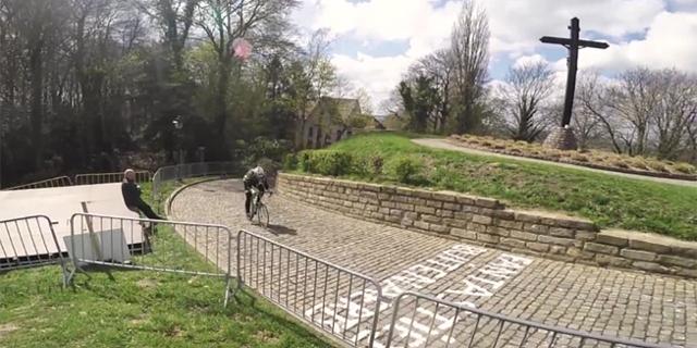 Radfahrer in Flandern