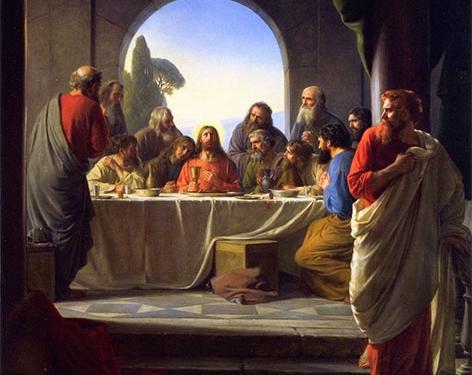 The Last Supper, Gemälde von Carl Heinrich Bloch, Ende des 19. Jahrhunderts