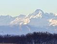 Verschneite Berggipfel der Pyrenäen
