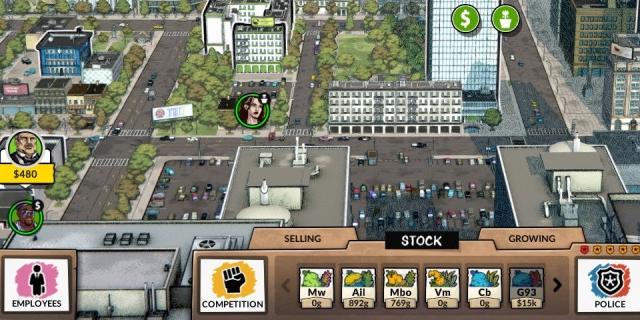 """Screenshot aus dem Spiel """"Weedcraft Inc."""""""