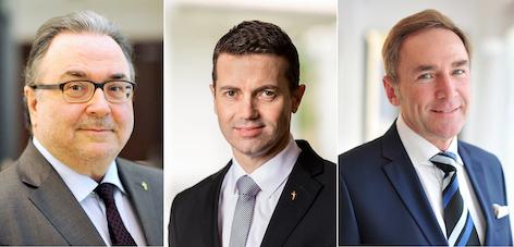 Michael Chalupka, Andreas Hochmeir und Manfred Sauer
