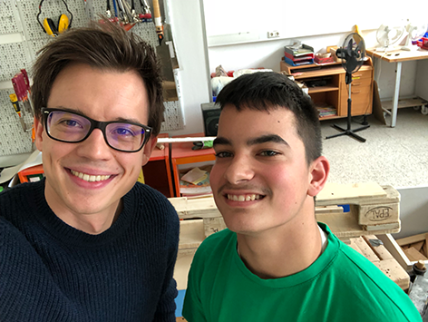 Philipp Hansa mit Angelo