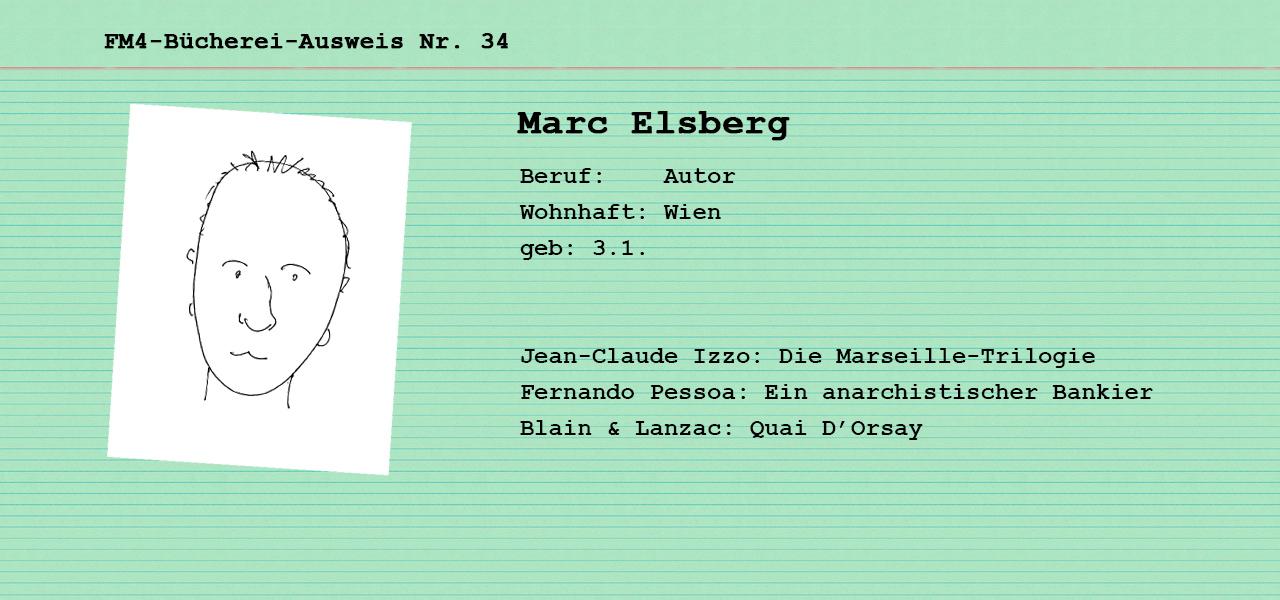 Büchereikarte für die FM4 Bücherei von Marc Elsberg