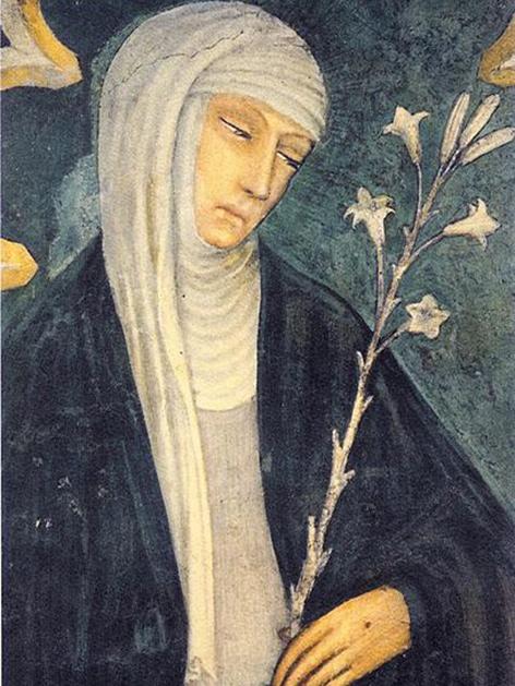 Katharina von Siena. Gemälde von Andrea Vanni  (1332–1414)