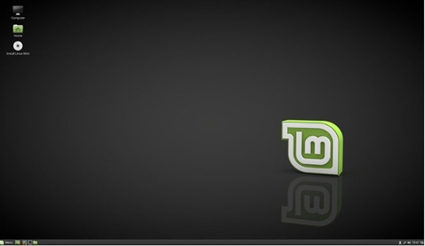 Desktop von Linux Mint