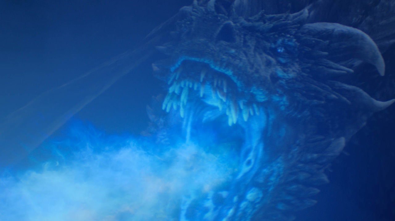 Viserion im Battle Of Winterfell, Game Of Thrones Staffel 8 Episode 3