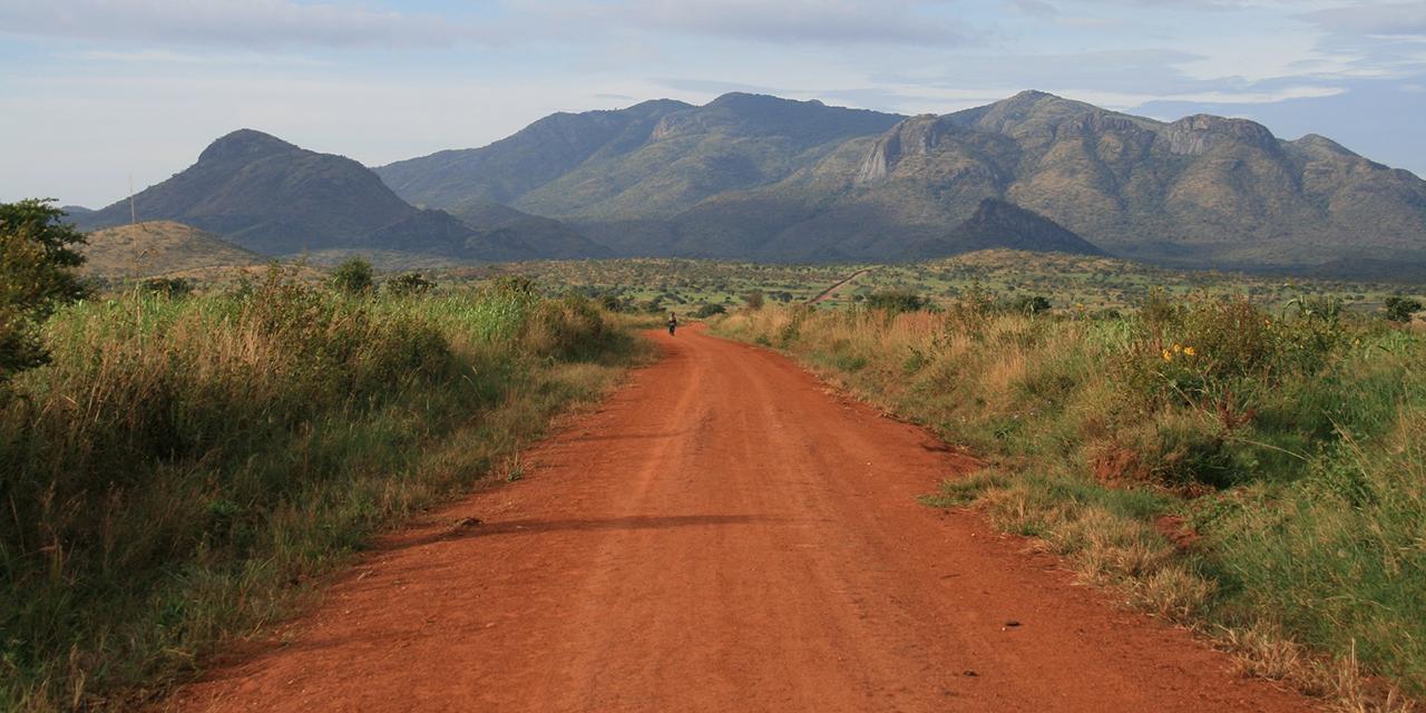 Straße durch die Steppe
