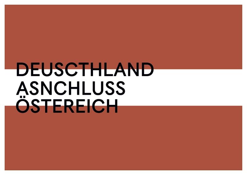 """Jan Böhmermanns Ausstellung """"Deuscthland#ASNCHLUSS#Östereich"""""""