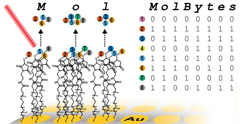 Moleküle werden in binäre Codes übersetzt