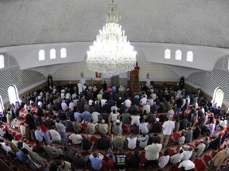 Innenraum der Moschee am Hubertusdamm