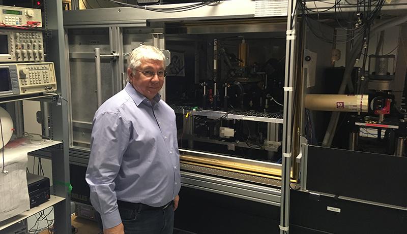 Quantenphysiker Blatt im Labor