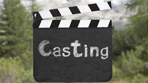 """Filmklappe mit Aufschrift """"Casting"""""""