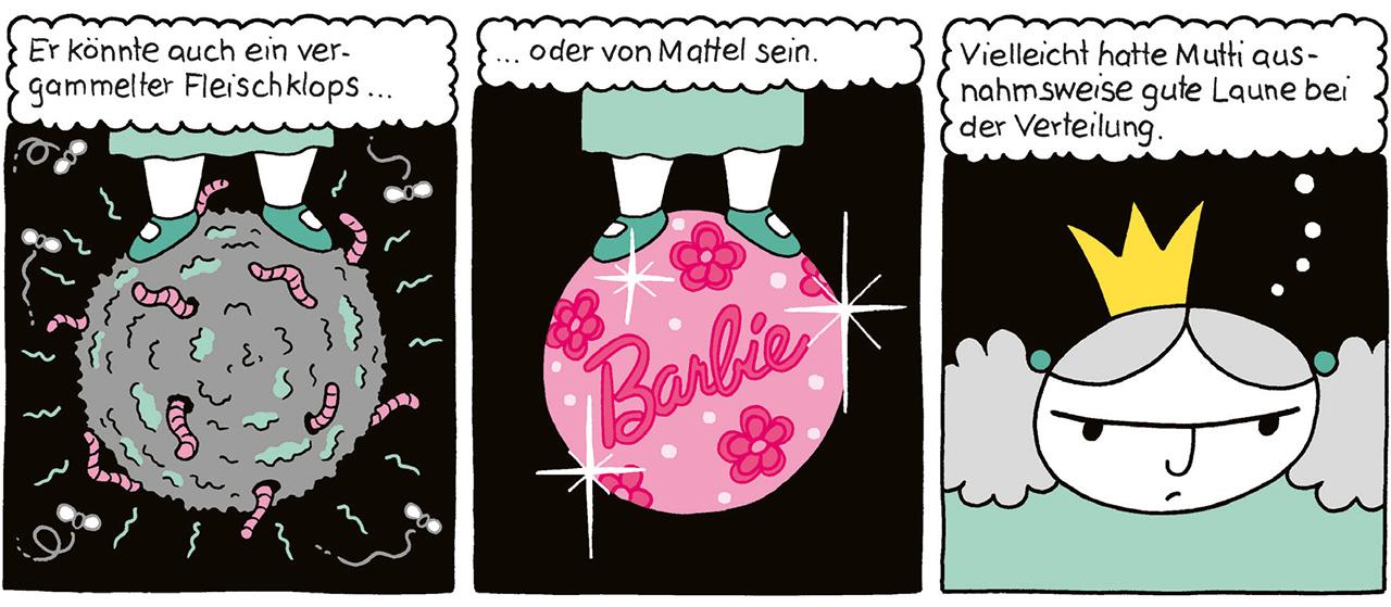 "Auszug aus dem Comic ""Die dicke Prinzessin Petronia"""