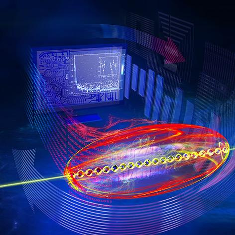"""Quantencomputer """"spricht"""" mit einem PC"""