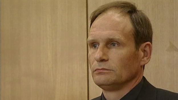 """Armin Meiwes, """"der Kannibale von Rotenburg"""" beim Prozess"""