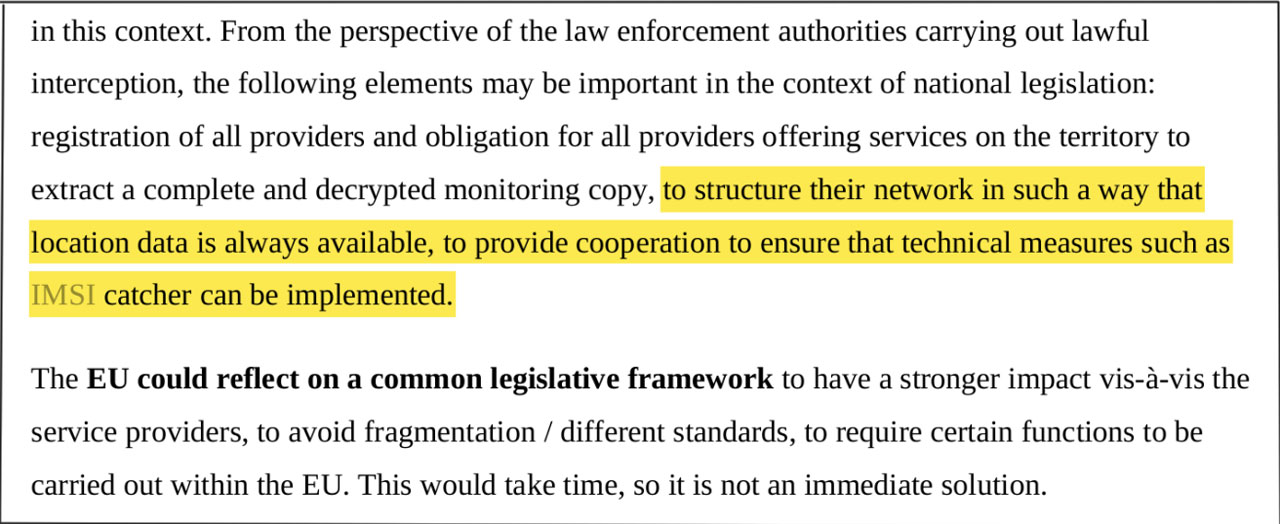 Screenshot Forderungen Ministerrat 5G Standards