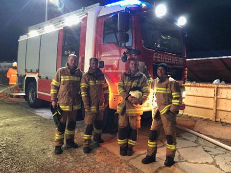 Weißes Känguru von Feuerwehr eingefangen