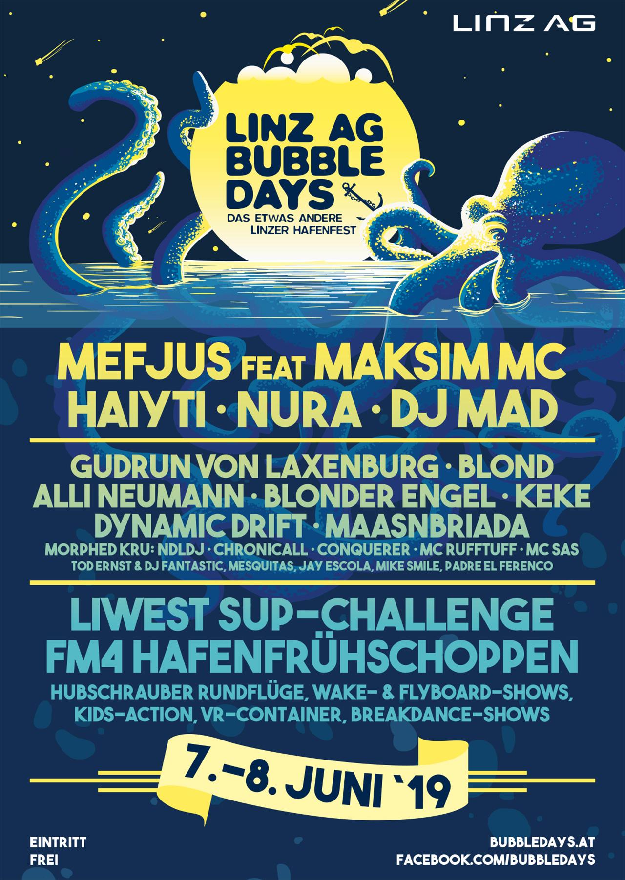 Bubbledays Plakat 2019