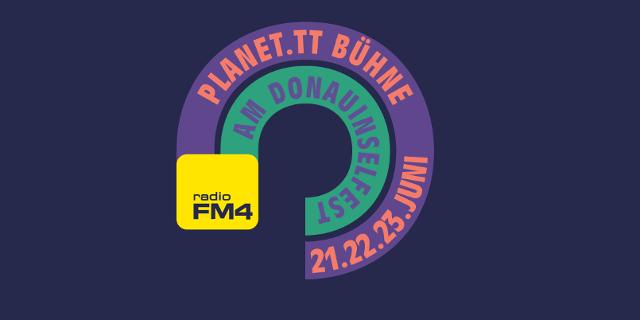 Grafik mit FM4 Logo und Hinweis auf das Donauinselfest