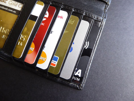 Kreditkarten in der Geldbörse