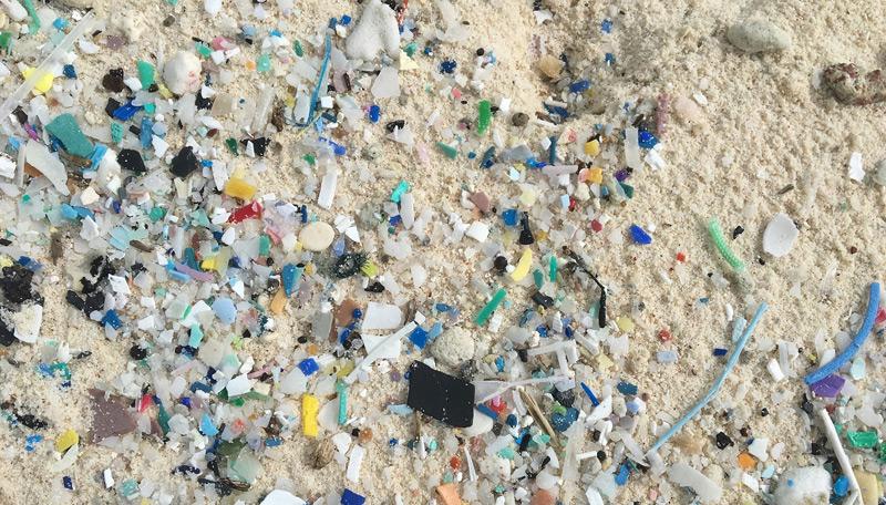 Mikroplastik (1-5 Millimeter) auf den Kokosinseln