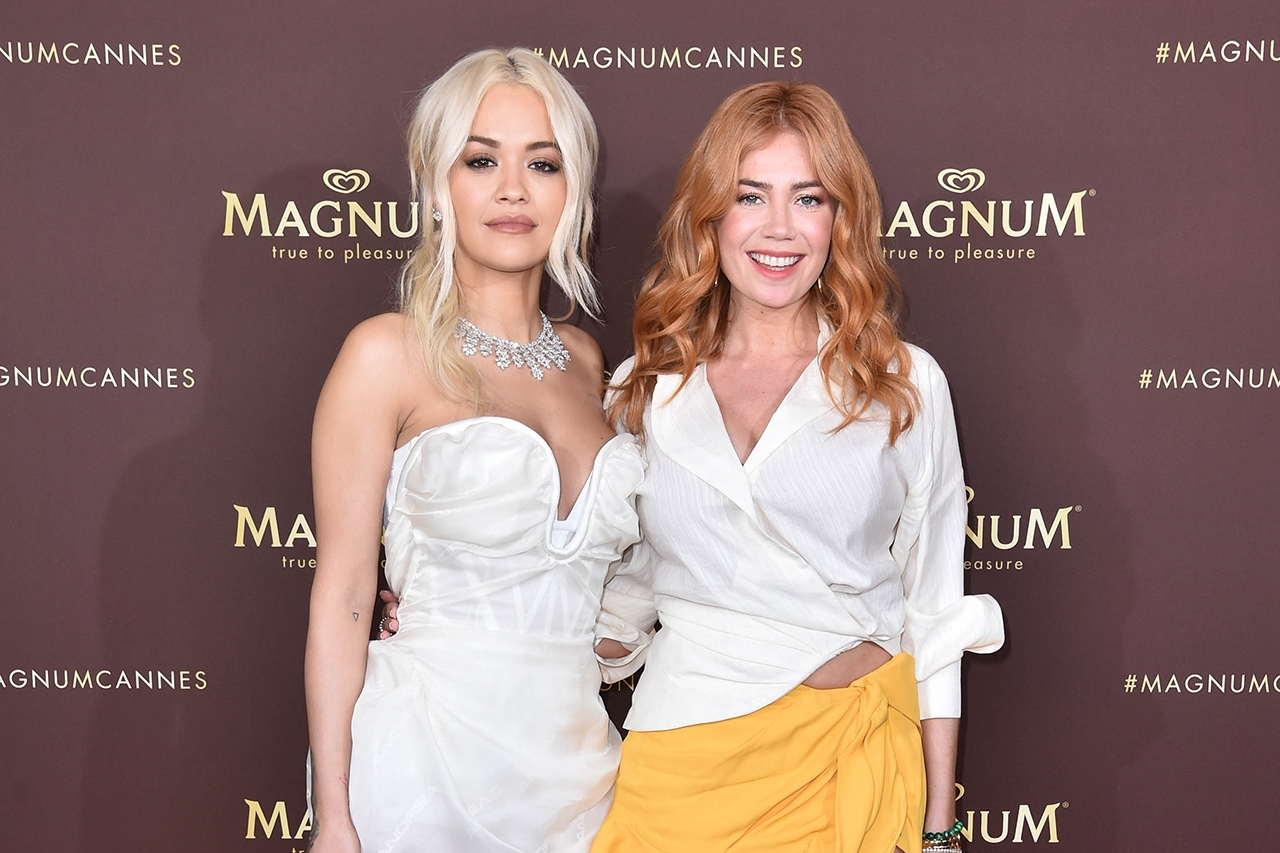 Rita Ora und Palina Rojinski bei Magnum Party in Cannes