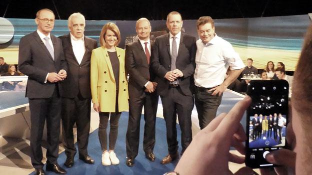 EU Wahl Diskussion - backstage mit Max Bauer
